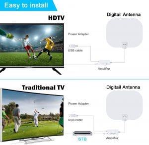 antenne TV intérieur 4K UHD Ts-Ant